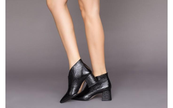 Botki bayla-188 031 czarny, skóra naturalna lakierowana - skórzane - botki - buty damskie - kobieta 2