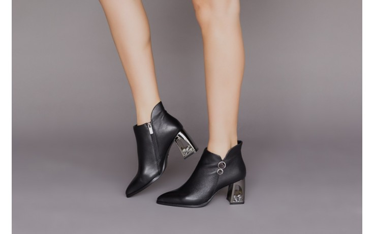 Botki sca'viola f-173 black leather, czarny, skóra naturalna - skórzane - botki - buty damskie - kobieta 2