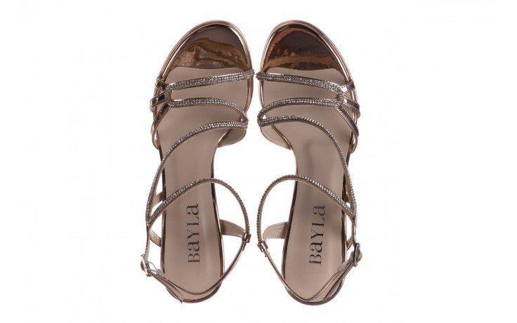 Sandały bayla-187 587-531 róż, skóra ekologiczna  - na obcasie - sandały - buty damskie - kobieta 4