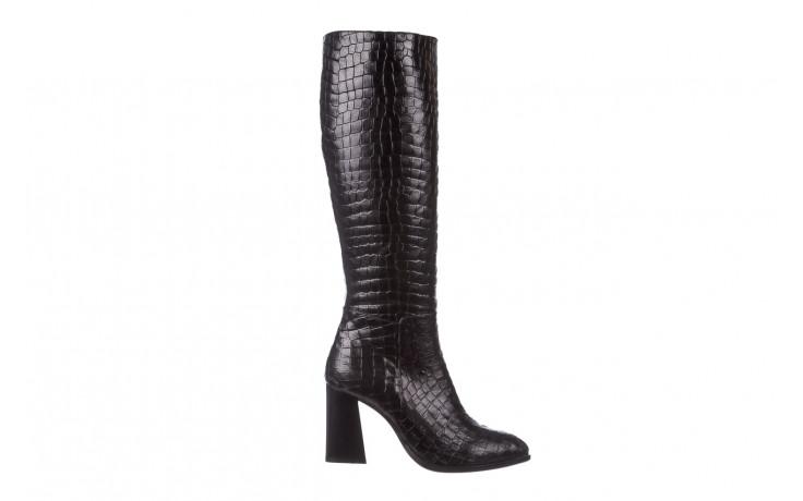 Kozaki bayla-195 20k-7004 black croco 195010, czarny, skóra naturalna  - kozaki - buty damskie - kobieta