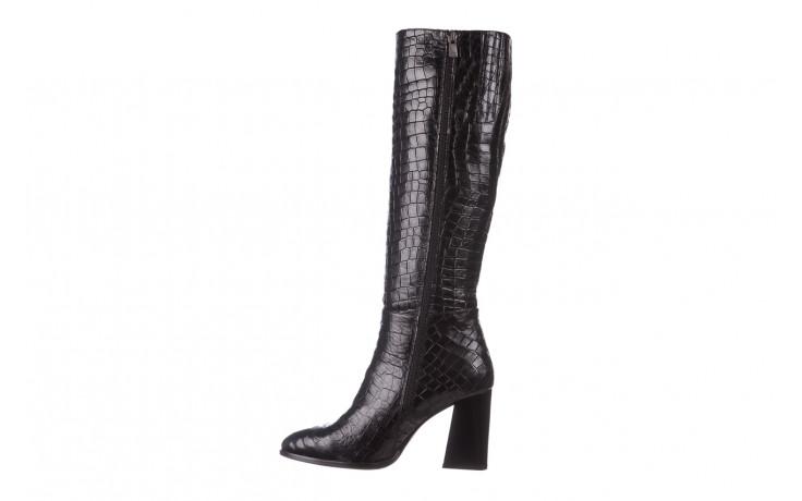 Kozaki bayla-195 20k-7004 black croco 195010, czarny, skóra naturalna  - kozaki - buty damskie - kobieta 3
