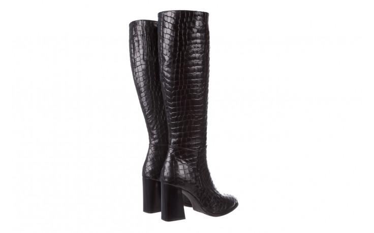 Kozaki bayla-195 20k-7004 black croco 195010, czarny, skóra naturalna  - kozaki - buty damskie - kobieta 4