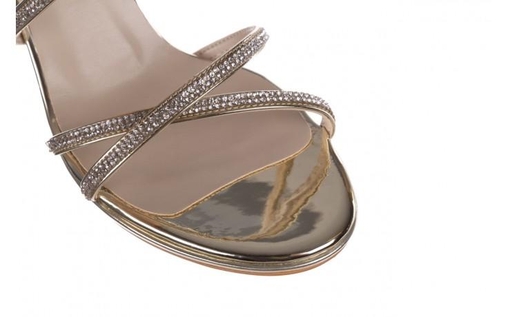 Sandały bayla-187 587-9078 złoty, skóra ekologiczna  - mega okazje - ostatnie rozmiary 5