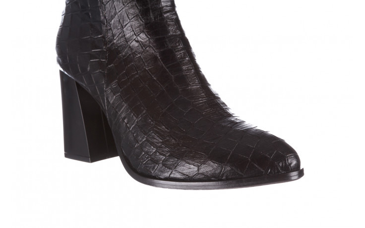 Kozaki bayla-195 20k-7004 black croco 195010, czarny, skóra naturalna  - kozaki - dla niej  - sale 5