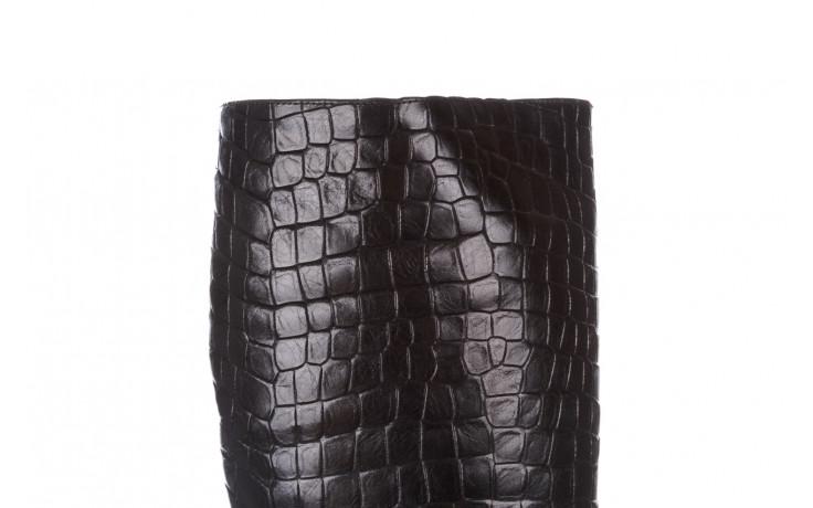 Kozaki bayla-195 20k-7004 black croco 195010, czarny, skóra naturalna  - kozaki - dla niej  - sale 8