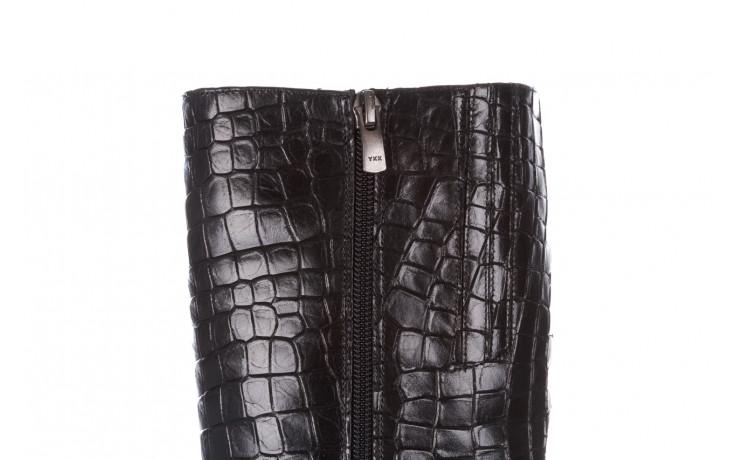 Kozaki bayla-195 20k-7004 black croco 195010, czarny, skóra naturalna  - kozaki - buty damskie - kobieta 9