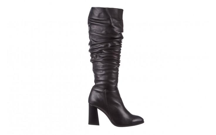 Kozaki bayla-195 20k-7007 black 195011, czarny, skóra naturalna  - kozaki - buty damskie - kobieta