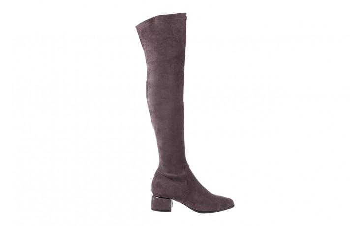 Kozaki bayla-056 9725-1801 szary 056520, skóra naturalna  - kozaki - buty damskie - kobieta