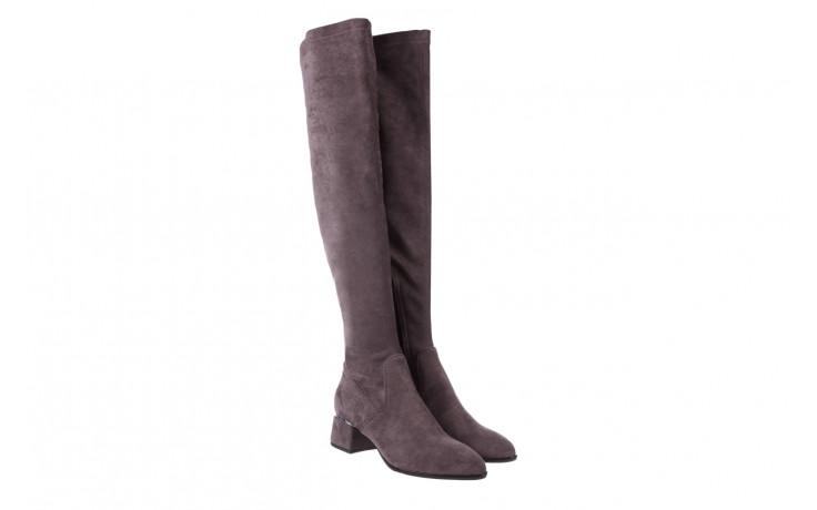 Kozaki bayla-056 9725-1801 szary 056520, skóra naturalna  - kozaki - buty damskie - kobieta 1