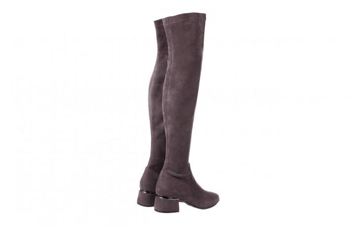 Kozaki bayla-056 9725-1801 szary 056520, skóra naturalna  - kozaki - buty damskie - kobieta 4
