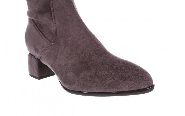 Kozaki bayla-056 9725-1801 szary 056520, skóra naturalna  - kozaki - buty damskie - kobieta 9