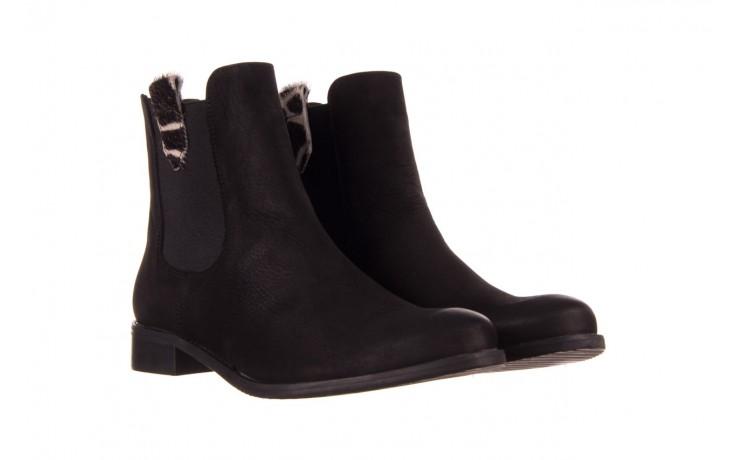 Botki bayla-157 b010-003-f czarny, skóra naturalna  - zamszowe - botki - buty damskie - kobieta 1