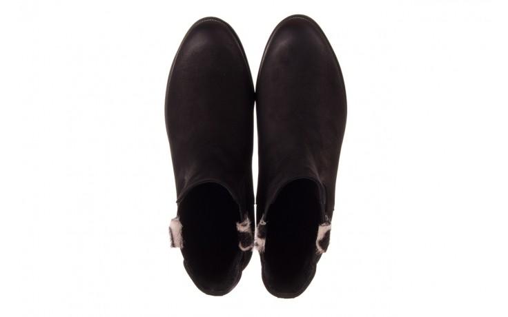 Botki bayla-157 b010-003-f czarny, skóra naturalna  - zamszowe - botki - buty damskie - kobieta 4