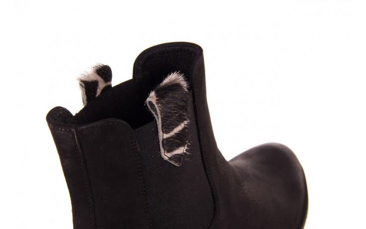 Botki bayla-157 b010-003-f czarny, skóra naturalna  - zamszowe - botki - buty damskie - kobieta 5