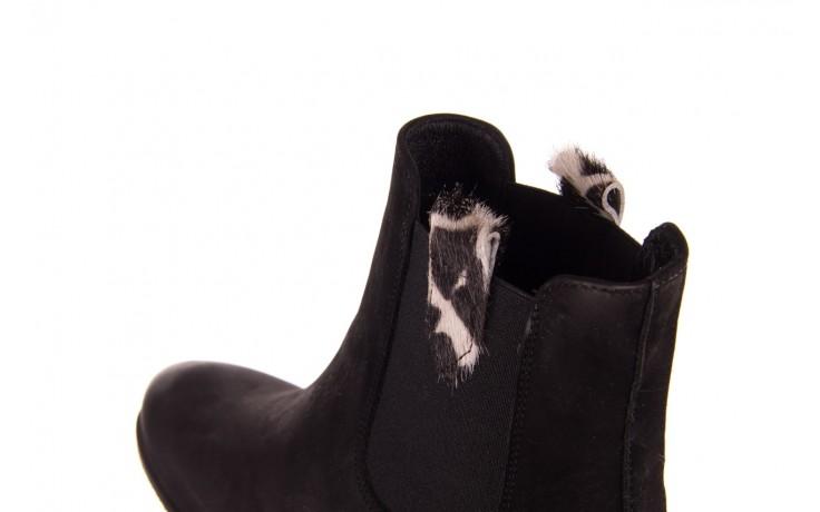 Botki bayla-157 b010-003-f czarny, skóra naturalna  - zamszowe - botki - buty damskie - kobieta 6