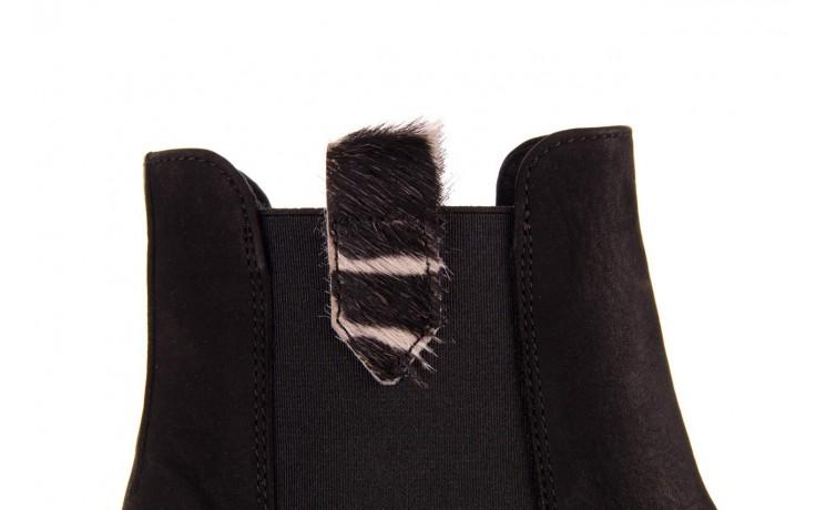 Botki bayla-157 b010-003-f czarny, skóra naturalna  - zamszowe - botki - buty damskie - kobieta 7