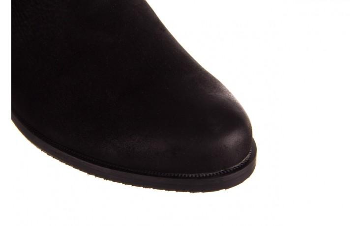 Botki bayla-157 b010-003-f czarny, skóra naturalna  - zamszowe - botki - buty damskie - kobieta 8