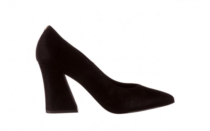 Czółenka bayla-056 9570-1445 czarny zamsz, skóra naturalna  - zamszowe - czółenka - buty damskie - kobieta