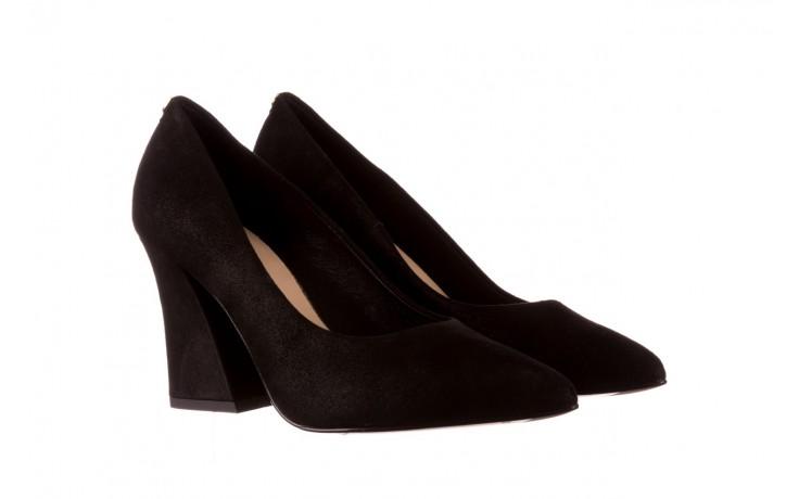 Czółenka bayla-056 9570-1445 czarny zamsz, skóra naturalna  - zamszowe - czółenka - buty damskie - kobieta 1
