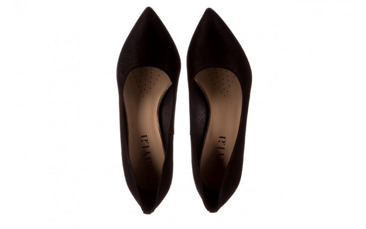Czółenka bayla-056 9570-1445 czarny zamsz, skóra naturalna  - zamszowe - czółenka - buty damskie - kobieta 4