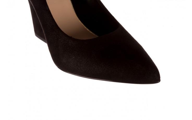 Czółenka bayla-056 9570-1445 czarny zamsz, skóra naturalna  - zamszowe - czółenka - buty damskie - kobieta 6