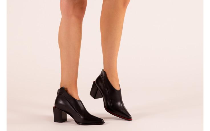 Botki bayla-195 20k-7204 black 195022, czarny, skóra naturalna  - skórzane - botki - buty damskie - kobieta 2