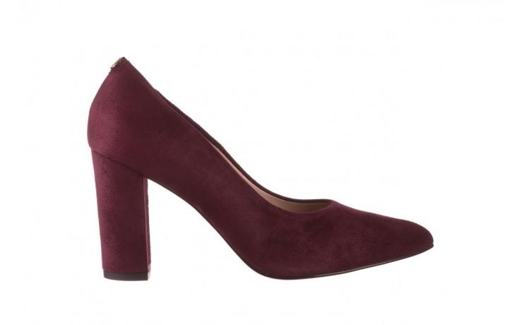Czółenka bayla-056 9119-1321 fiolet zamsz, skóra naturalna  - na słupku - czółenka - buty damskie - kobieta
