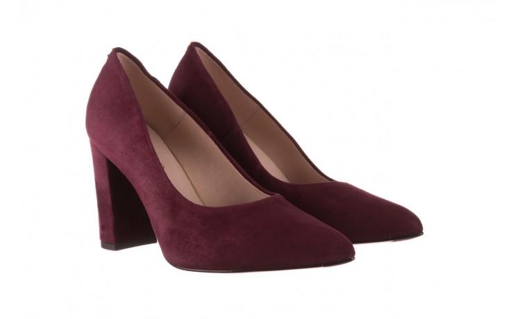 Czółenka bayla-056 9119-1321 fiolet zamsz, skóra naturalna  - na słupku - czółenka - buty damskie - kobieta 1
