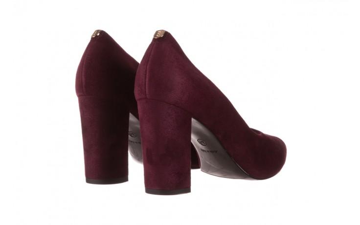 Czółenka bayla-056 9119-1321 fiolet zamsz, skóra naturalna  - na słupku - czółenka - buty damskie - kobieta 3