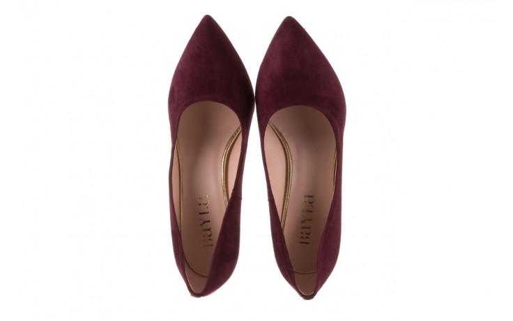 Czółenka bayla-056 9119-1321 fiolet zamsz, skóra naturalna  - na słupku - czółenka - buty damskie - kobieta 4