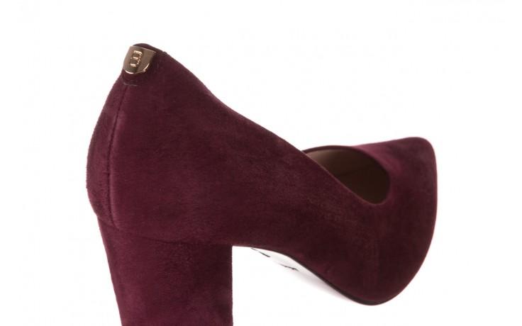 Czółenka bayla-056 9119-1321 fiolet zamsz, skóra naturalna  - na słupku - czółenka - buty damskie - kobieta 5