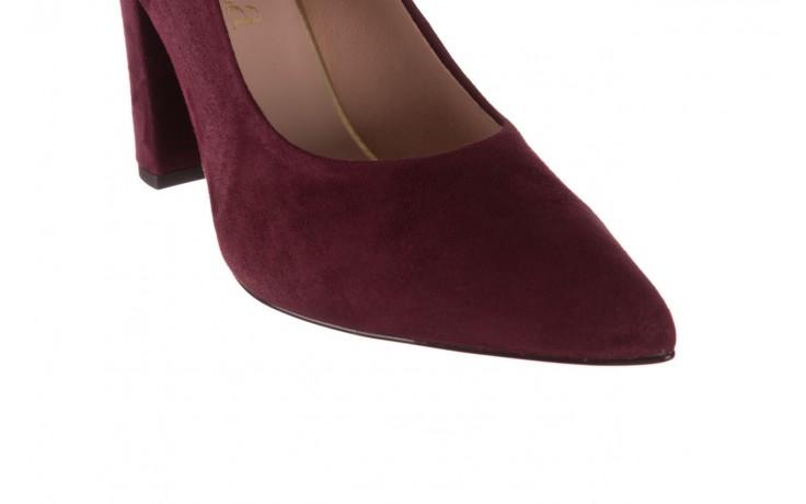 Czółenka bayla-056 9119-1321 fiolet zamsz, skóra naturalna  - na słupku - czółenka - buty damskie - kobieta 6