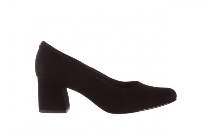Czółenka bayla-056 9469-21 czarny zamsz, skóra naturalna  - zamszowe - czółenka - buty damskie - kobieta