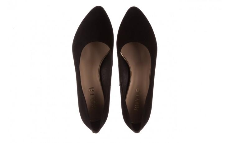 Czółenka bayla-056 9469-21 czarny zamsz, skóra naturalna  - zamszowe - czółenka - buty damskie - kobieta 4