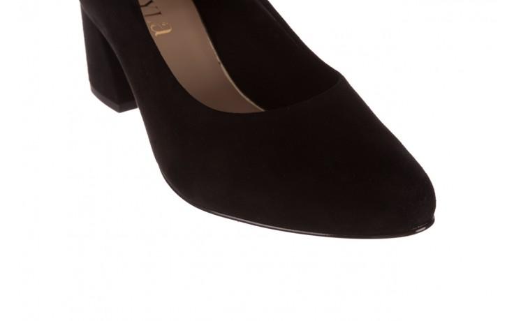 Czółenka bayla-056 9469-21 czarny zamsz, skóra naturalna  - zamszowe - czółenka - buty damskie - kobieta 6