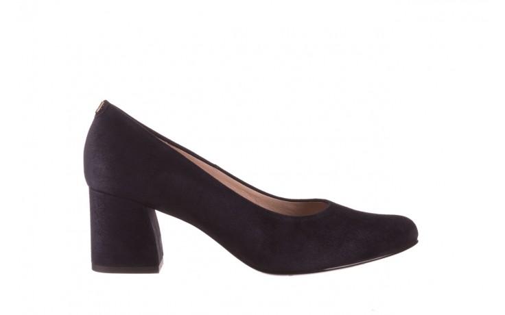 Czółenka bayla-056 9469-488 granat zamsz, skóra naturalna  - zamszowe - czółenka - buty damskie - kobieta