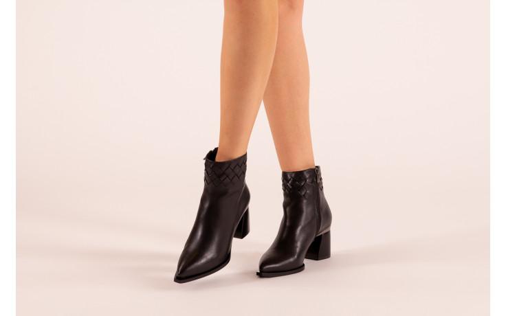 Botki bayla-195 20k-6811 black 195005, czarny, skóra naturalna  - skórzane - botki - buty damskie - kobieta 2