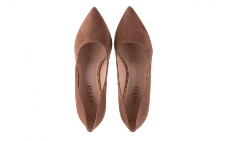 Czółenka bayla-056 9570-1508 beż zamsz, skóra naturalna  - zamszowe - czółenka - buty damskie - kobieta 4