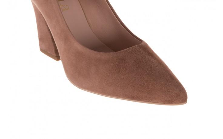 Czółenka bayla-056 9570-1508 beż zamsz, skóra naturalna  - zamszowe - czółenka - buty damskie - kobieta 6