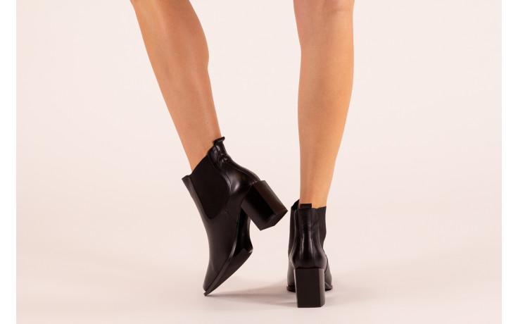 Botki bayla-195 20k-7200 black 195012, czarny, skóra naturalna  - skórzane - botki - buty damskie - kobieta 2