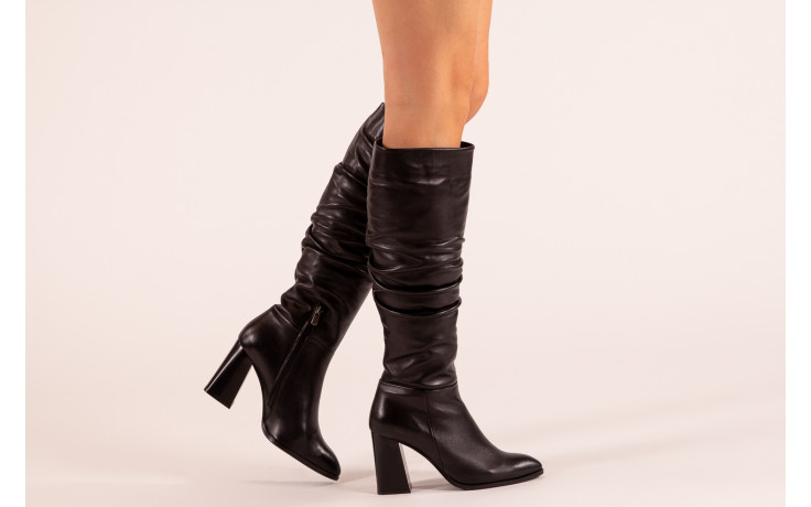 Kozaki bayla-195 20k-7007 black 195011, czarny, skóra naturalna  - kozaki - buty damskie - kobieta 2