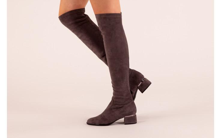 Kozaki bayla-056 9725-1801 szary 056520, skóra naturalna  - kozaki - buty damskie - kobieta 2