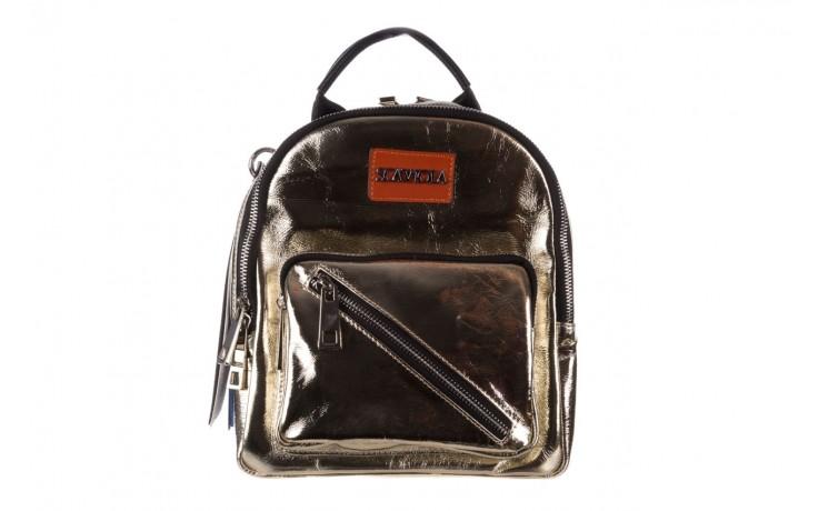 Plecak sca'viola torebka t-84 gold, złoty, skóra naturalna  - plecaki - torebki - akcesoria - kobieta