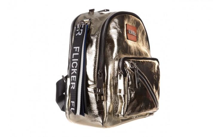 Plecak sca'viola torebka t-84 gold, złoty, skóra naturalna  - plecaki - torebki - akcesoria - kobieta 1