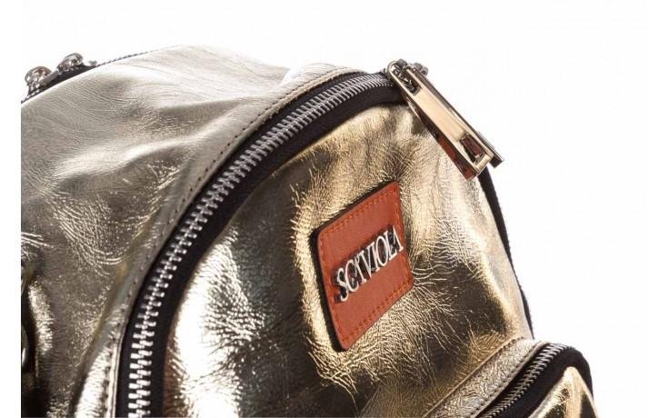Plecak sca'viola torebka t-84 gold, złoty, skóra naturalna  - plecaki - torebki - akcesoria - kobieta 3