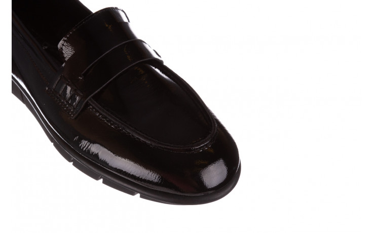 Półbuty bayla-196 168201 siy krs rug 196014, czarny, skóra naturalna lakierowana  - trendy - kobieta 6
