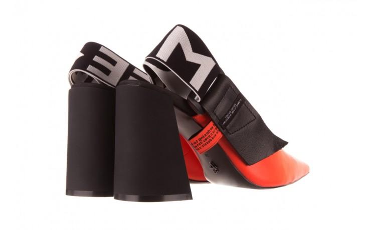 Czółenka sca'viola e-44 orange, pomarańczowy/ czarny, skóra naturalna - na słupku - czółenka - buty damskie - kobieta 3