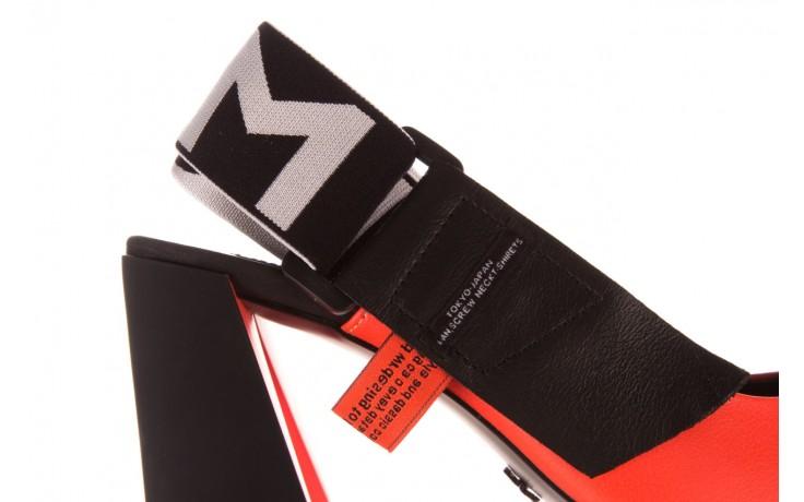 Czółenka sca'viola e-44 orange, pomarańczowy/ czarny, skóra naturalna - na słupku - czółenka - buty damskie - kobieta 6
