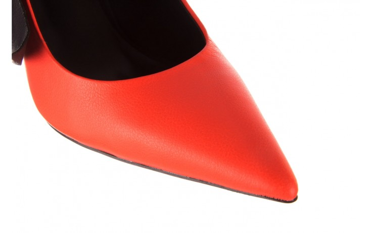 Czółenka sca'viola e-44 orange, pomarańczowy/ czarny, skóra naturalna - na słupku - czółenka - buty damskie - kobieta 7