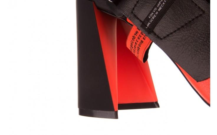 Czółenka sca'viola e-44 orange, pomarańczowy/ czarny, skóra naturalna - na słupku - czółenka - buty damskie - kobieta 9